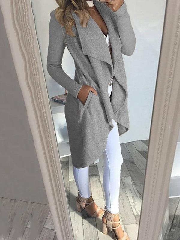 2019 Womens Long Waterfall Coat Jackets Ladies Cardigan Overcoat Jumper Plus Size Women Clothes ropa mujer manteau femme hiver