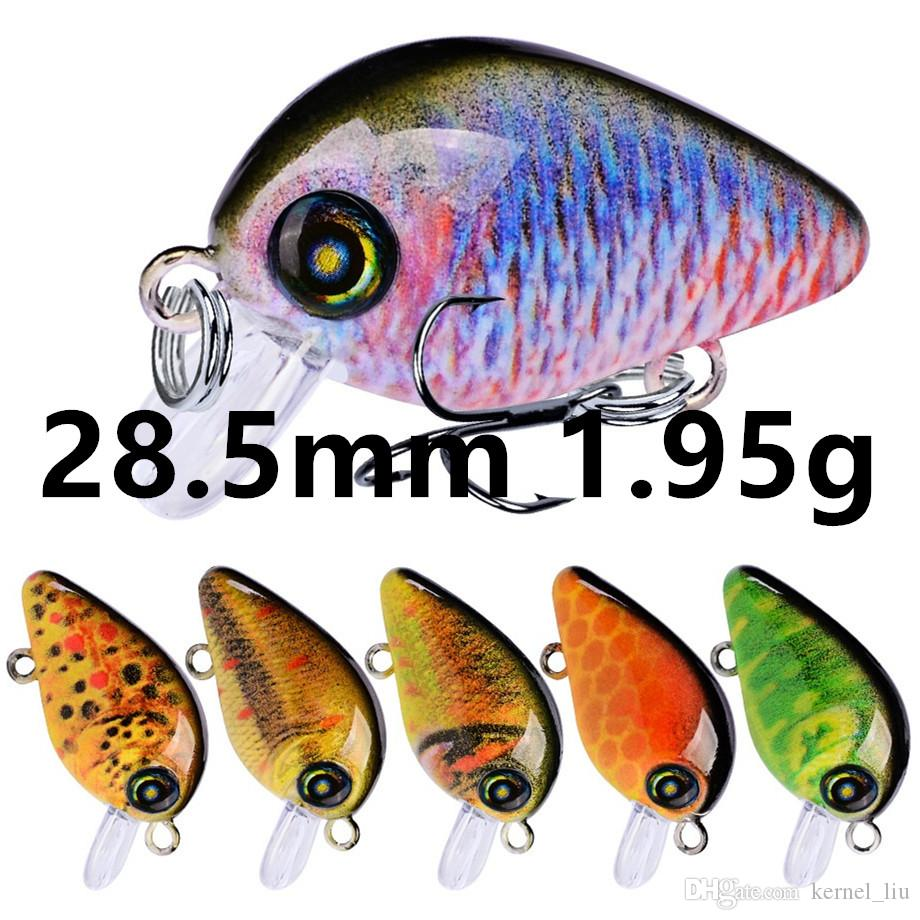 Mieszane 10 kolorów 28.5mm 1.95g Korba Haczyki Wędkarskie Fishhook 14 # Hook Hard Baits Przynęty Akcesoria wędkarskie E-001
