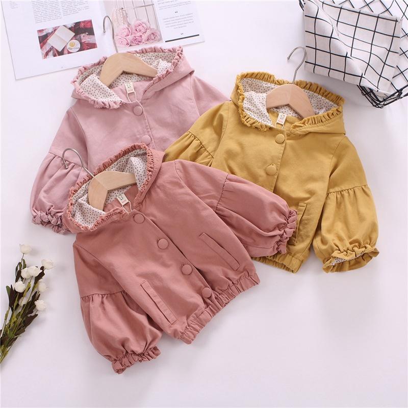 Baby Toddler Girls Autumn Outwear Jackets Princess Ruffle Cardigan Jacket Zipper Up