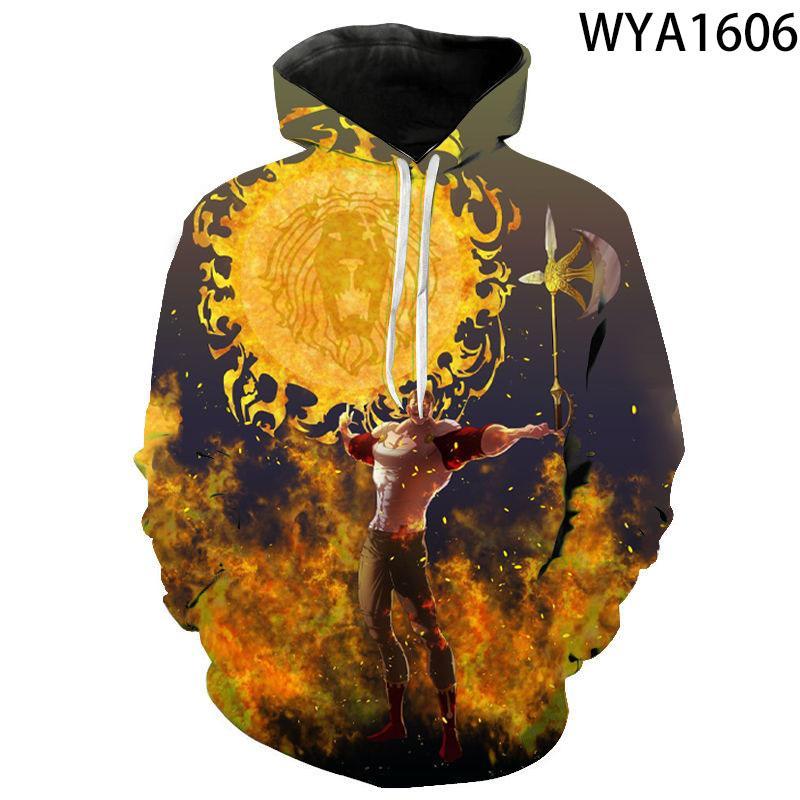 Neue Art und Weise Männer Frauen Kinder Escanor Hoodies 3D Printed Lässige Street Jungen-Mädchen-Pullover Langarm-Sweatshirt-Jacke kühlen