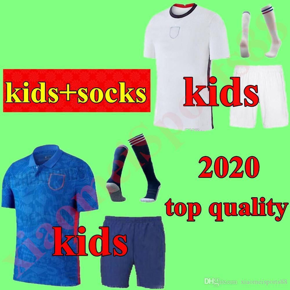 2020 어린이 키트 잉글랜드 축구 유니폼 루니 KANE 스터 리지 STERLING HENDERSON VARDY 청소년 소년 축구 유니폼 칼초 셔츠