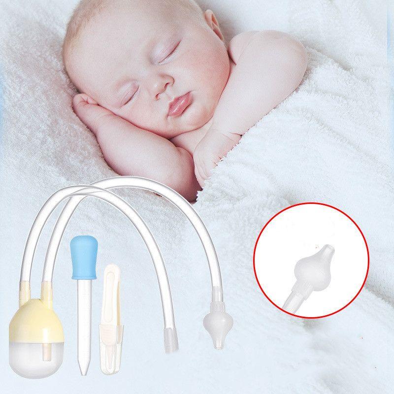 3pcs / Set Neugeborenes Baby-Sicherheits-Nasen-Reiniger Kinder Vakuumsauger Nasensauger Set Kleinkinder Medizin Dropper Zubehör Babypflege