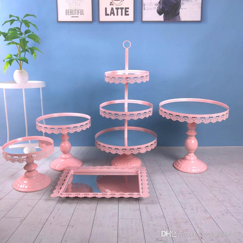 Golden White Pink Silver Rose gold Dessert Table Display Stand Decoration Cake Stand Cake Tray Cake Table Dessert Rack