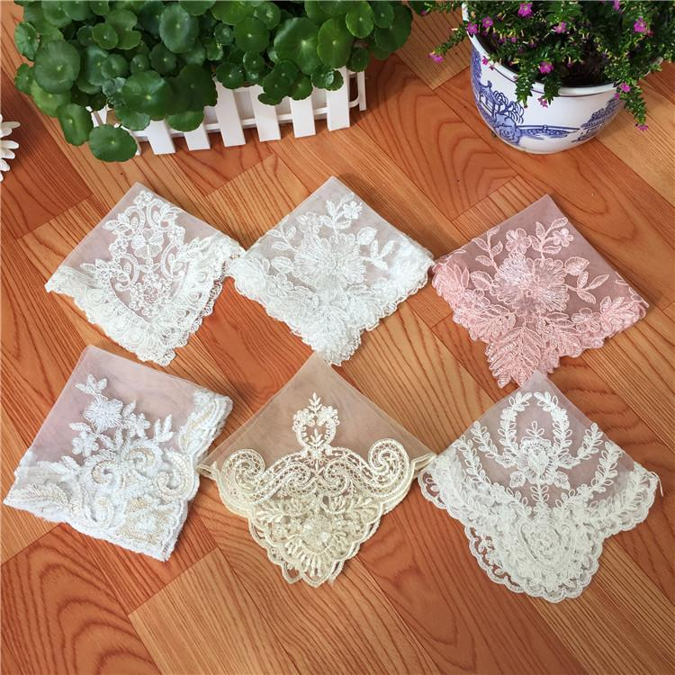 Variety Square 26cm Modern Minimalist Mesh Lace Beaded Embroidered Placemat Coffee Cup Cushion Vase Pad Decor Fabric