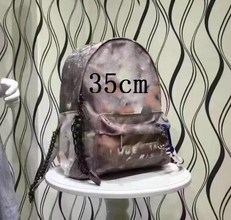 2019 Fashion New Retro Style Graffiti Pack Canvas Backpack Fashion Bags