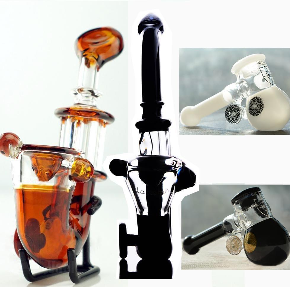 IN STOCK black white Amber Sherlock hand pipe glass oil burner Mini Smoking pipe Glass Blunt glass bongs for dry herb