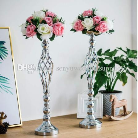 New style Metal Flower Arrangement Vase Rack Candle Holder Bracket Candlestick Centerpiece Wedding Party Dinner Hotel Decoration senyu0354