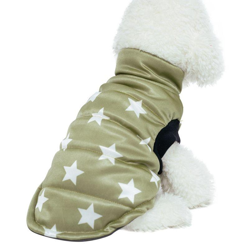 Warm Pet dolcevita in cotone imbottito cappotto della maglia per i cani senza maniche Autunno Inverno Giacca Z