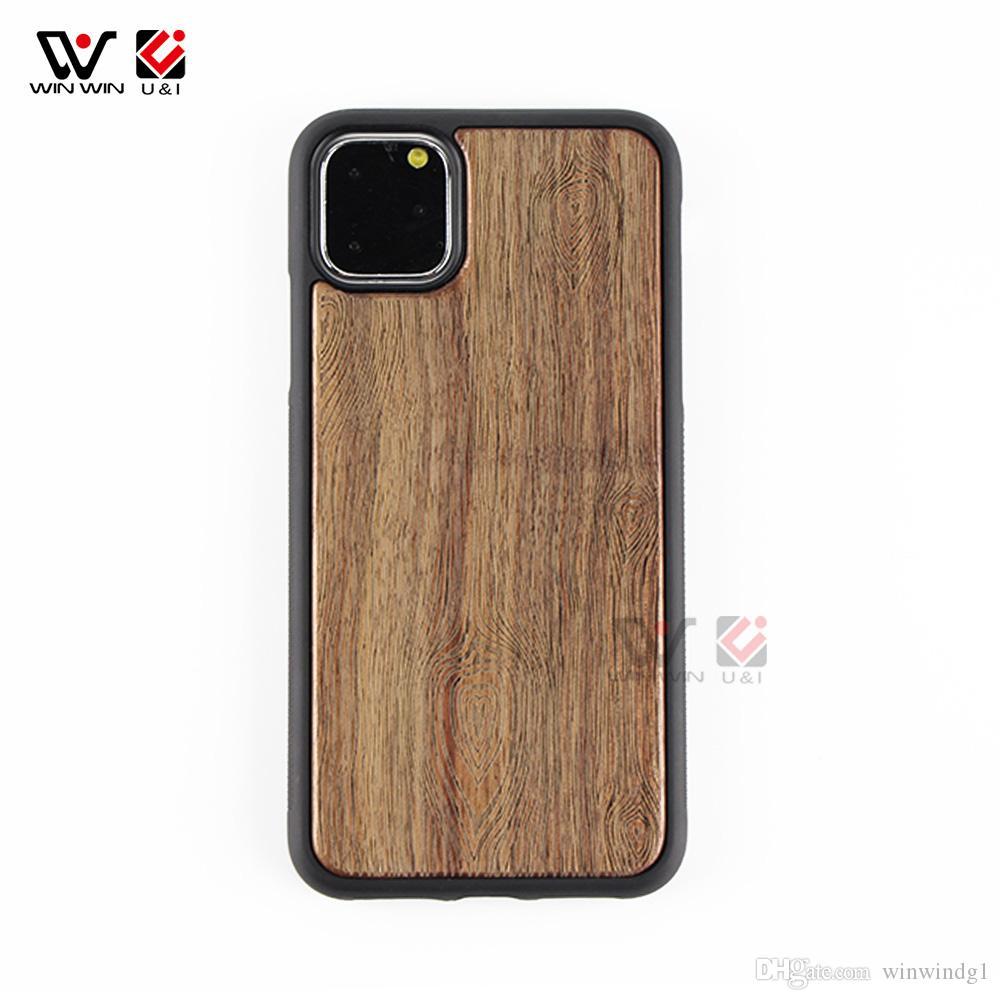 Amérique du luxe naturel Noyer Bois Phone Cases pour l'iPhone 6 7 8 X 11 Pro Max