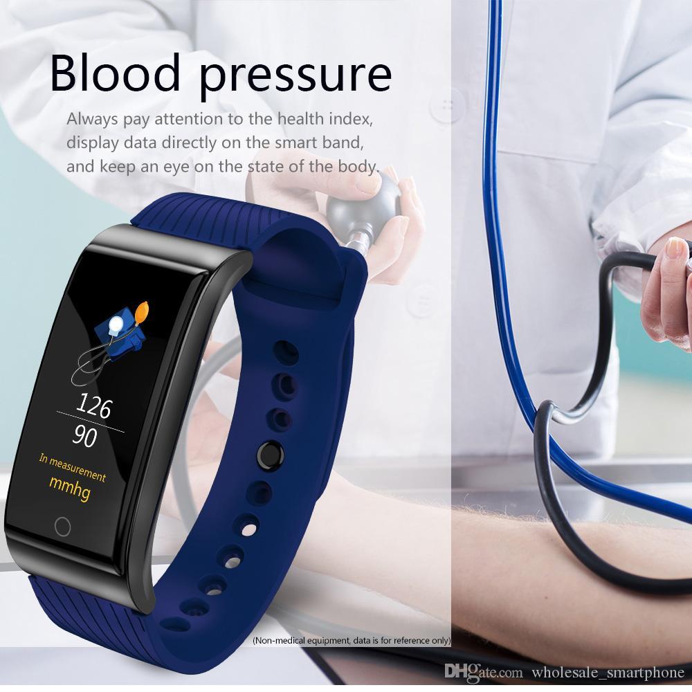 F4 Smart-Armband-Blutdruck-Puls-Monitor-Smart-Uhr-wasserdichte Bluetooth Pedometer Sport-Armbanduhr für iPhone und Android Phone