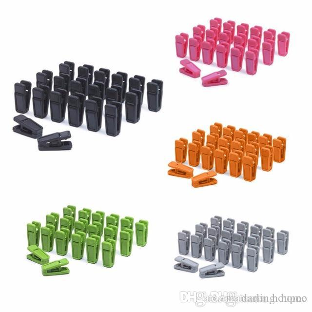 4 Colors Heavy Duty Clothes Pegs Plastic Hangers Racks Clothespins Clip Household Tools Kitchen Accessories Home Decor Gadgets