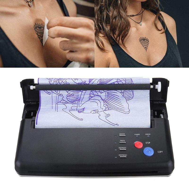 Stencil máquina de tatuaje Dibujo máquina de transferencia térmica impresora copiadora fabricante de la plantilla para la transferencia del tatuaje Suministro de papel de la UE Reino Unido EE.UU.