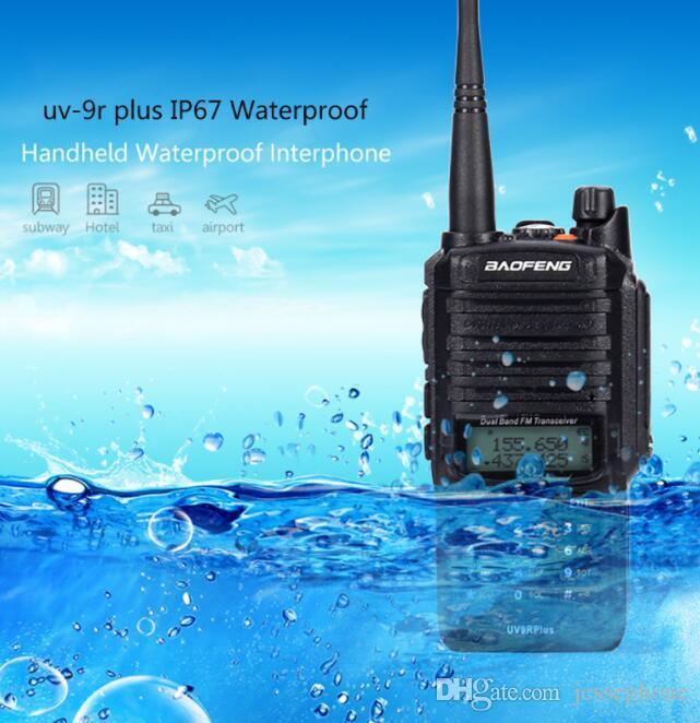 2020 باوفينج UV9R بالإضافة إلى 15W للماء يتحملها نطاق السلطة العليا CB هام 20KM طويل UV9R المحمولة اثنان راديو الطريق للصيد 10X DHL