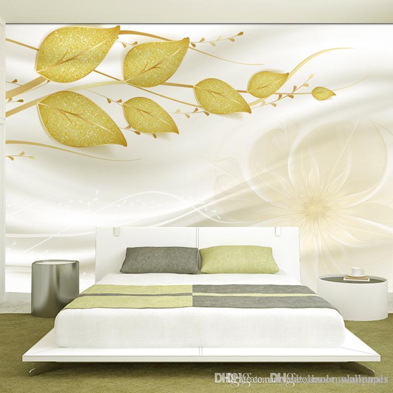 Custom photo 3d wallpaper Non-woven Fabric mural wall Green vine space 3 d TV setting wall stripe green leaves wallpaper