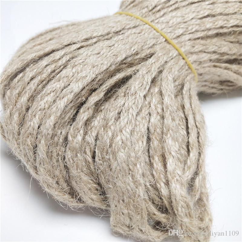 Width0. 5cm Flat Braided Rope Decoration DIY Touw Jute Cord Natural Twine String Burlap Ribbon Party Cuerda Yu