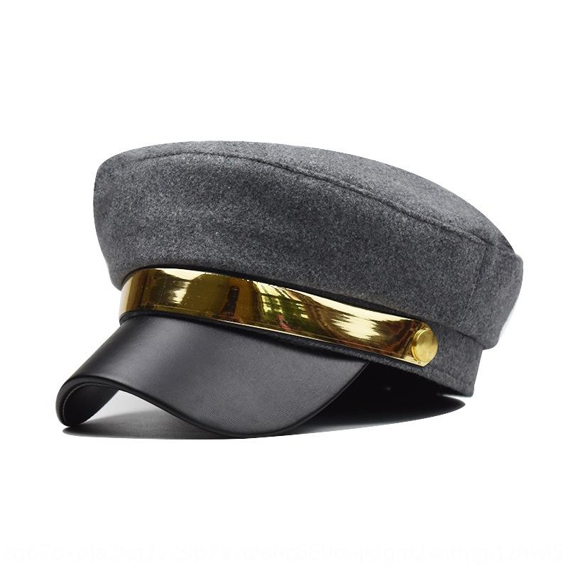 Beret metallo femminile ottagonale protezione del pittore inverno inverno cappello pittore britannico tappo mao mao hua jia jia hua