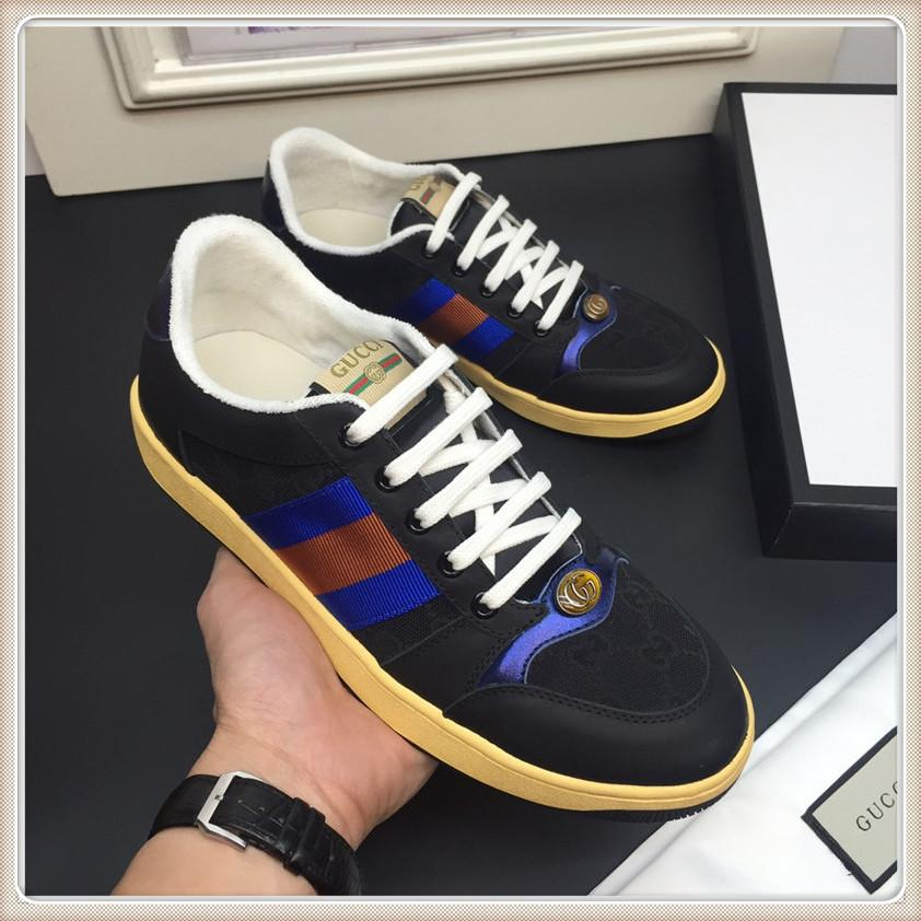 2019 New Mens Fashion Shoes Top Luxo Sneakers Zapatos hombre Mens Sneaker Shoes Tamanho 38-45