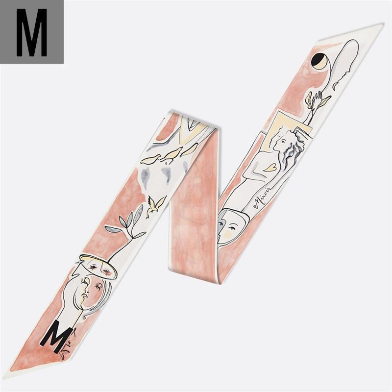 ~ M Letters шелковый шарф для дам 12 созвездий 26 Письма шарфов наручные Полотенце Женщины Тощий сумка шарф глава группы
