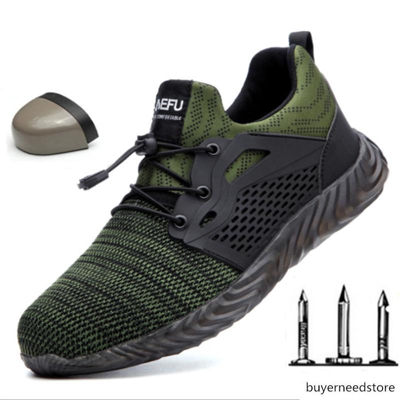 Безопасность труда Обувь Мужчины Открытый Стальные Toe Обувь Military Combat ботильоны Неуничтожимое Стильный Дышащие Trekking кроссовки