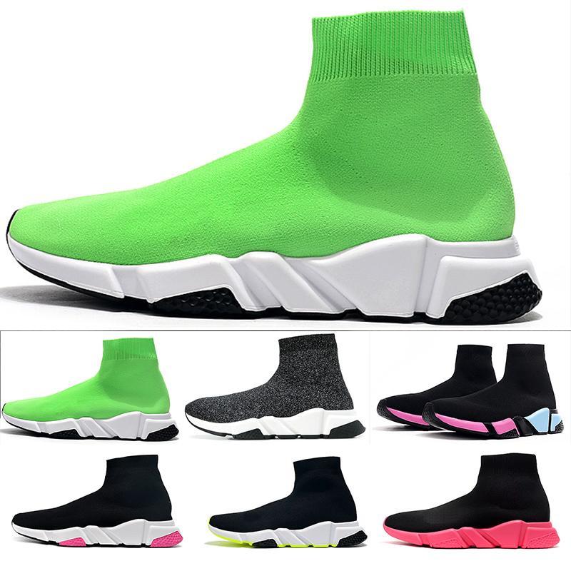 Balenciaga Sock shoes Luxury Brand أحذية أعلى جودة سرعة المدرب الجوارب للرجال والنساء الثلاثي أسود أبيض أحمر عرضي حذاء مصمم أزياء أحذية التمهيد الكاحل