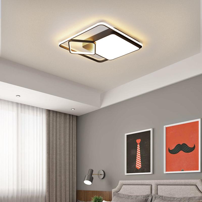 Livingroom Yatak Odası Otel Lobi Giyim Odası Uzaktan karartma Tavan Aydınlatma Armatür RW210 için Modern Beyaz Led Tavan Lambası
