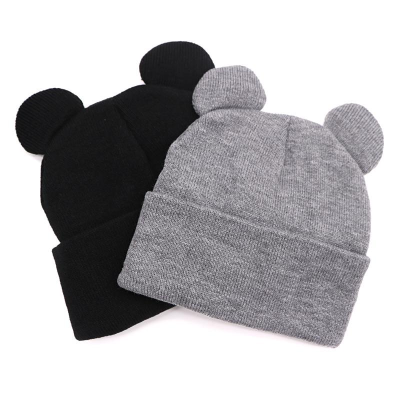 Hat Female Winter Caps Hats for Women Lady Devil Horns Ear Cute Crochet Braided Knit Beanies Hat Warm Cap Bonnet Femme Gorros S18120302