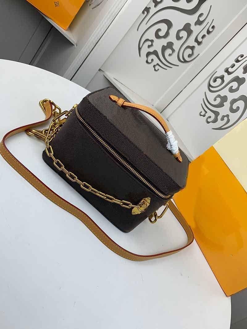 Bolsos de mujer patrón real caja de bolso de estilo maquillaje bolsas de cuero bolso bolso cruz cuerpo mano hombro monedero moda mujer flor caja gcpdf