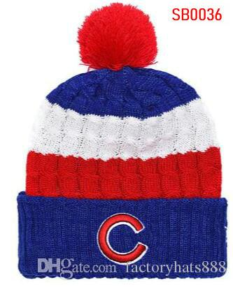 2019 Unisex Autumn Winter hat Sport Knit Hat Custom Knitted Cap Sideline Cold Weather Knit hat Soft Warm Cubs Beanie Skull Cap 00