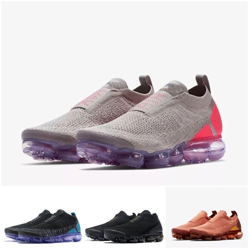 vapormax vapor max air 2019 Chaussures Moc 2 2.0 Freizeitschuhe Triple Black Herren Damen Sneakers Fly White Knit Luftkissen Trainer Zapatos Größe 36-45