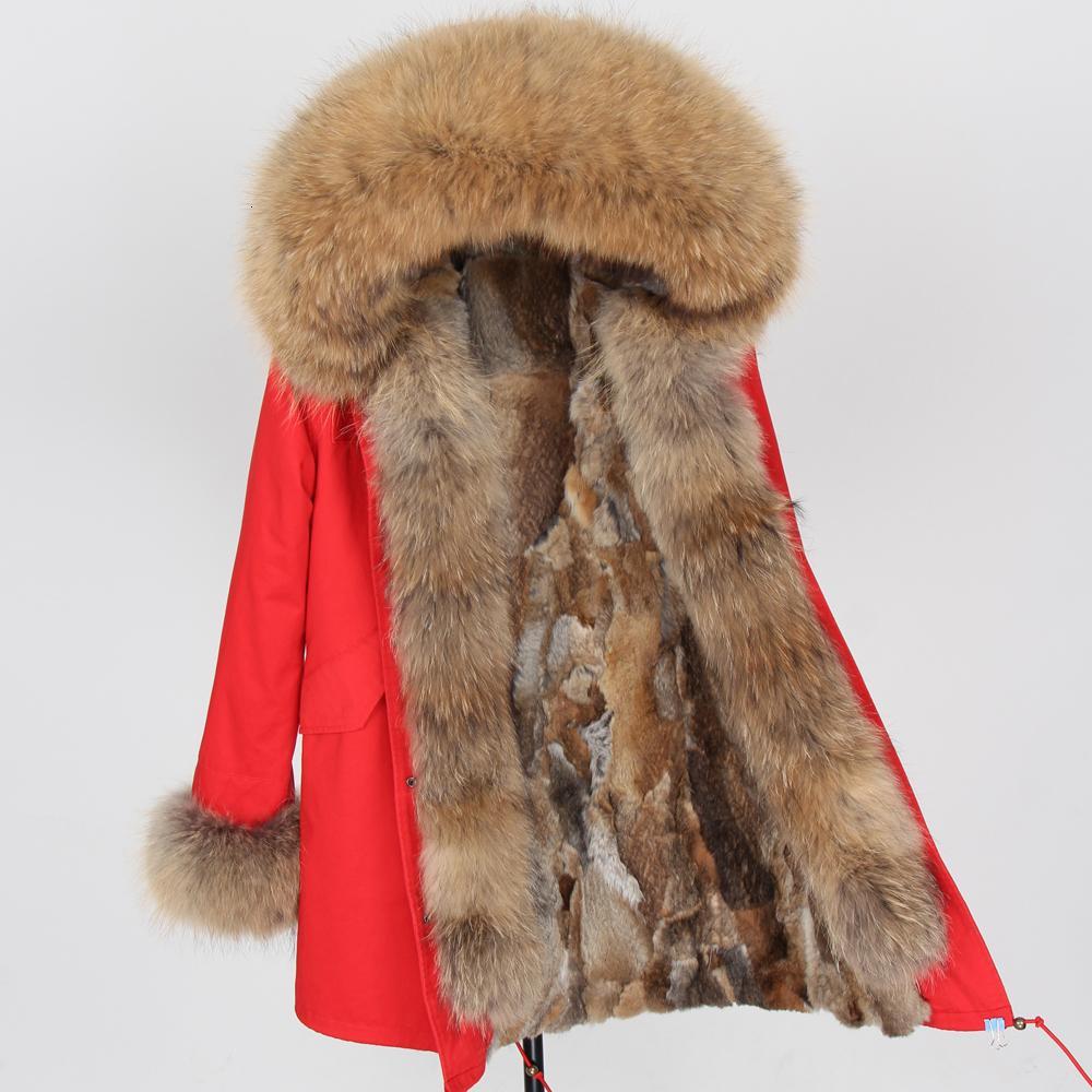 Königs Fuer Kohle und Jacken Damen-Winter-Park Royal Fuer Jacke Damen Winter Halskette kurtka damska Pelz Kohle V191209
