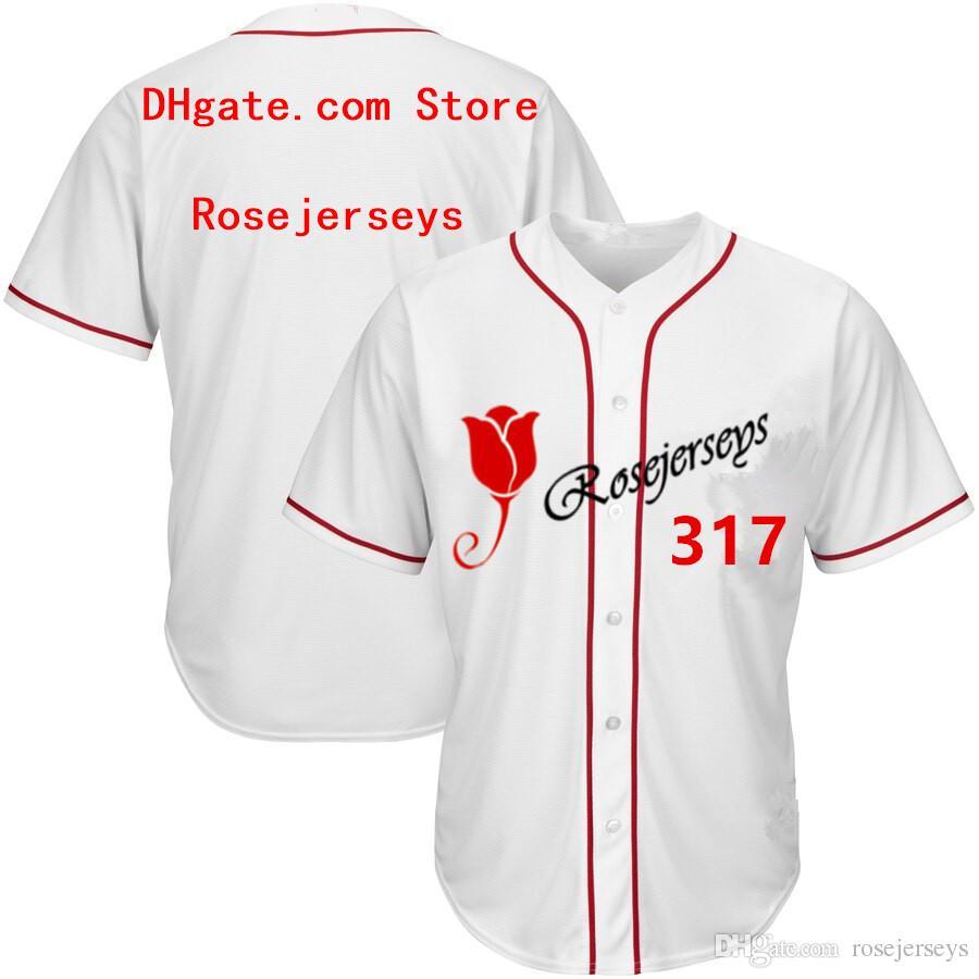 RJ123-317 Camisetas de béisbol # 317 Hombres Mujeres Jóvenes Niños Adultos Dama Personalizado Cosido Cualquiera Tu Propio Nombre Número S-4XL