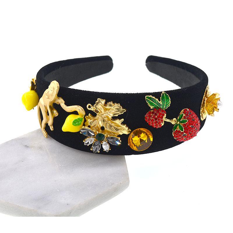 moda exagerada faixa de cabelo retro barroco retro moda headband do temperamento atirar personalidade acessórios headband selvagens