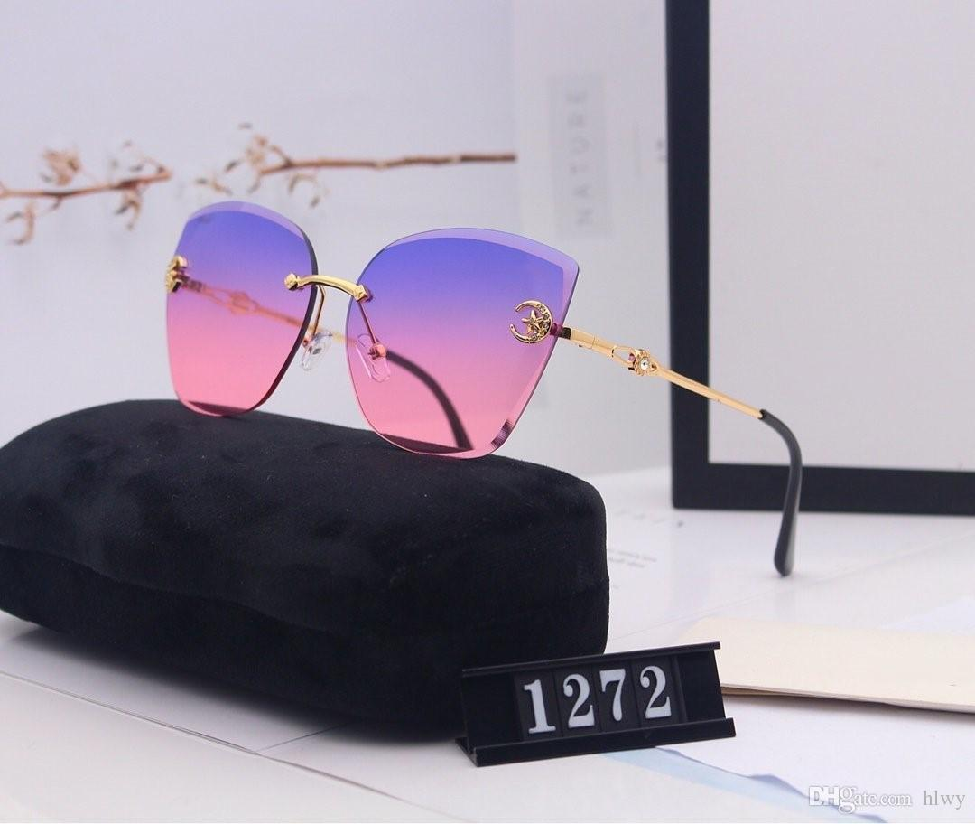 Designer Women Sunglasses Luxury Fashion Sunglasses Hot Top Style Party Beach Driving Sunglasses Best Gift With Original Packaging 1272