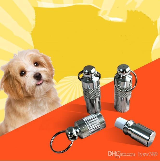 35x5mm Pet Adresse Carte Sliver en métal Médaillon Anti-lost Cartoon Pendentif chien chat Tag carte d'identité Pet Supplies HA276