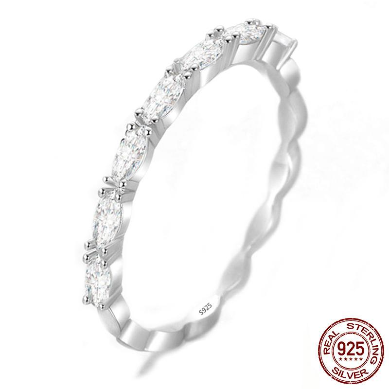 100% 925 Sterling Silver Ring Fine Jewelry For Women Sona Diamond Engagement Wedding Ring Gift for Girl Friend XR393