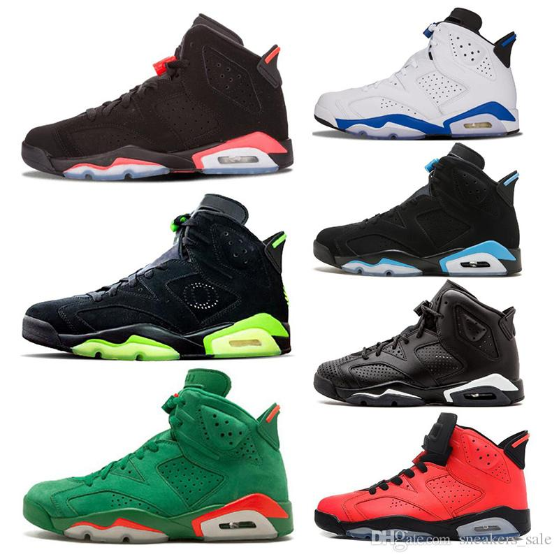 Designer Black Infrared Bred 6 6s Men Basketball Shoes Green Suede Gatorade UNC Oreo Carmine Sports Sneakers mens trainers US 7-13
