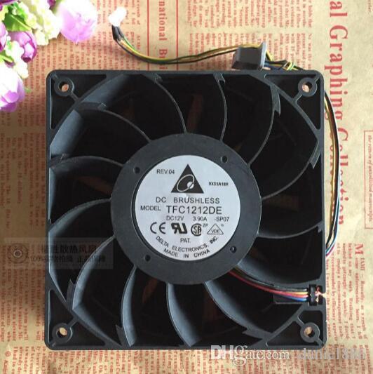 El original Delta TFC1212DE 12V 3.90A 120 * 120 * 38 12 CM Ventilador de refuerzo de violencia de 4 líneas