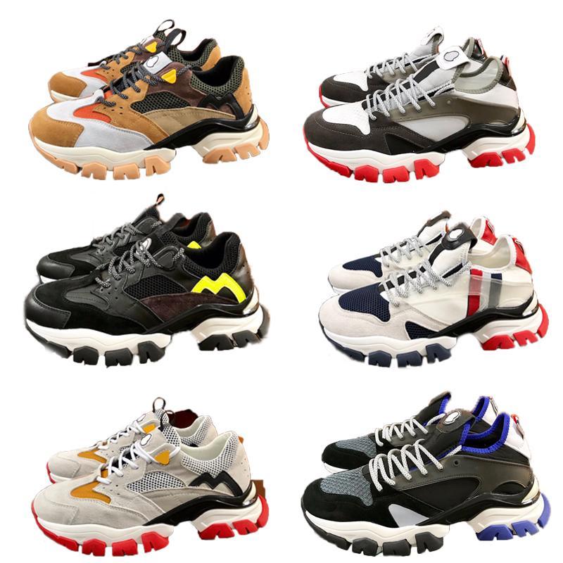 Chaussures Hommes Designer Vintage Plate-forme Sneaker Calfskin Formateurs cuir Comfort Casual chaussures de course de qualité supérieure chaussures de luxe de la marque