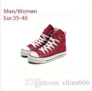 2019 HOT vente Nouveau unisexe bas-Top Haut-Top CONVE adulte Femmes Chaussures pour hommes en toile de grande taille lacées Chaussures Casual espadrille chaussures