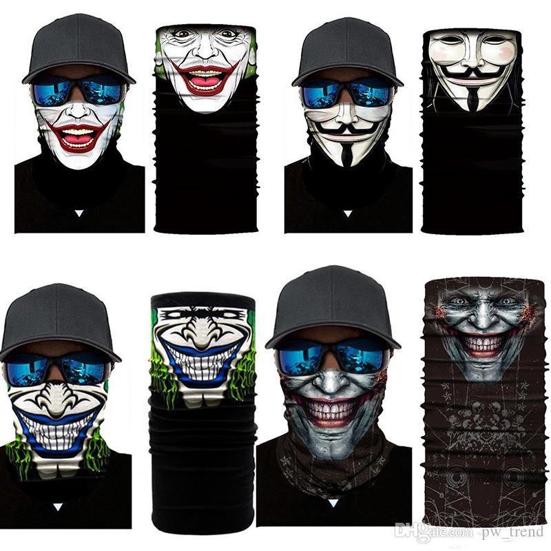 Хэллоуин Скелет маска Шарф Joker Оголовье Балаклавы Череп маскарадные маски для лыж Мотоцикл Велоспорт Рыбалка