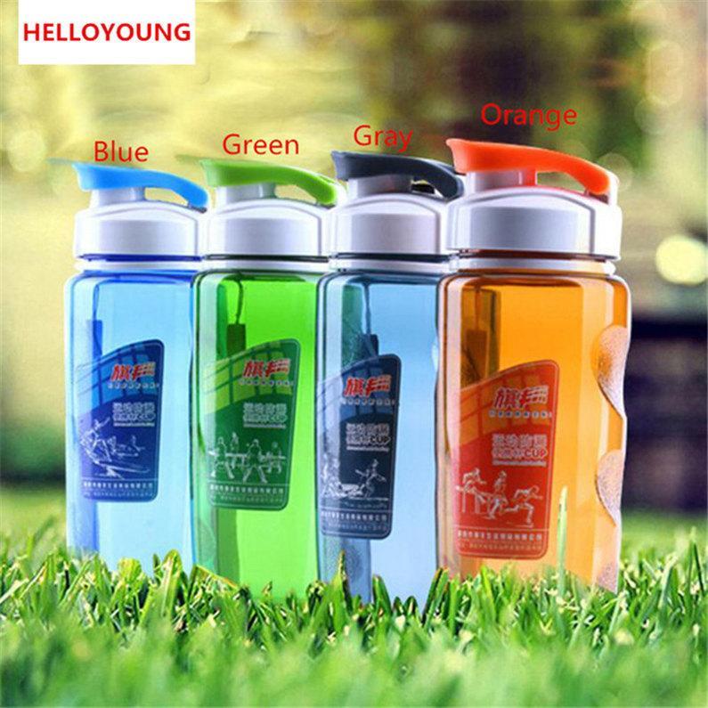 Kapak Dudak Filtre Sports ile Moda Kapaklı Drinkware Uzay Kupa Plastik Su Şişeleri Taşınabilir İçme Şişe Sıcak satış Şişe