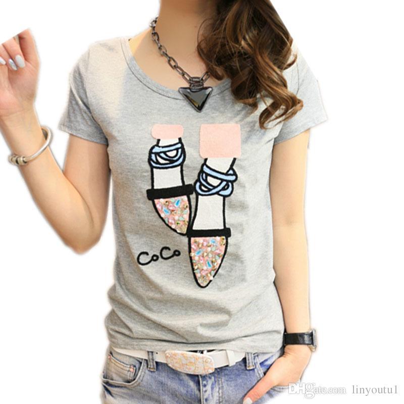 2019 T shirt women t-shirt cotton top tee shirt femme kawaii tshirt women tops summer t-shirts camisetas mujer verano