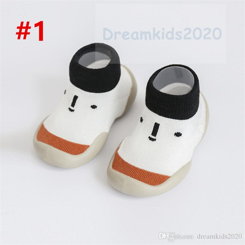 Baby Boys Girls Moccasins Toddlers Indoor Non-Skid Floor Slippers Kids Cute Animals Shoe Socks