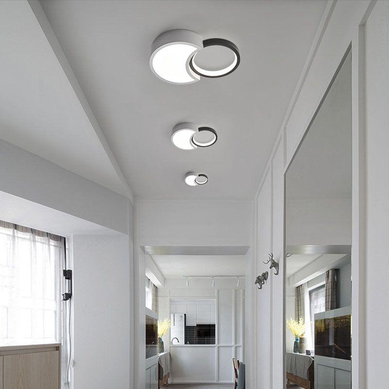 Kuzey Avrupa Modern basit ev dikdörtgen, yuvarlak lambalar aydınlatma tavan lambası koridorunu açtı