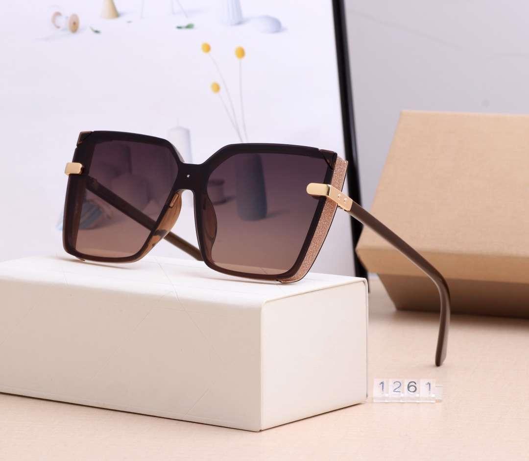 D1O رسالة النسائية العلامة التجارية مصمم النظارات الشمسية الصيف نظارات شمسية نسائية Adumbral حملق نظارات UV400 1261 5 اللون عالية الجودة مع صندوق