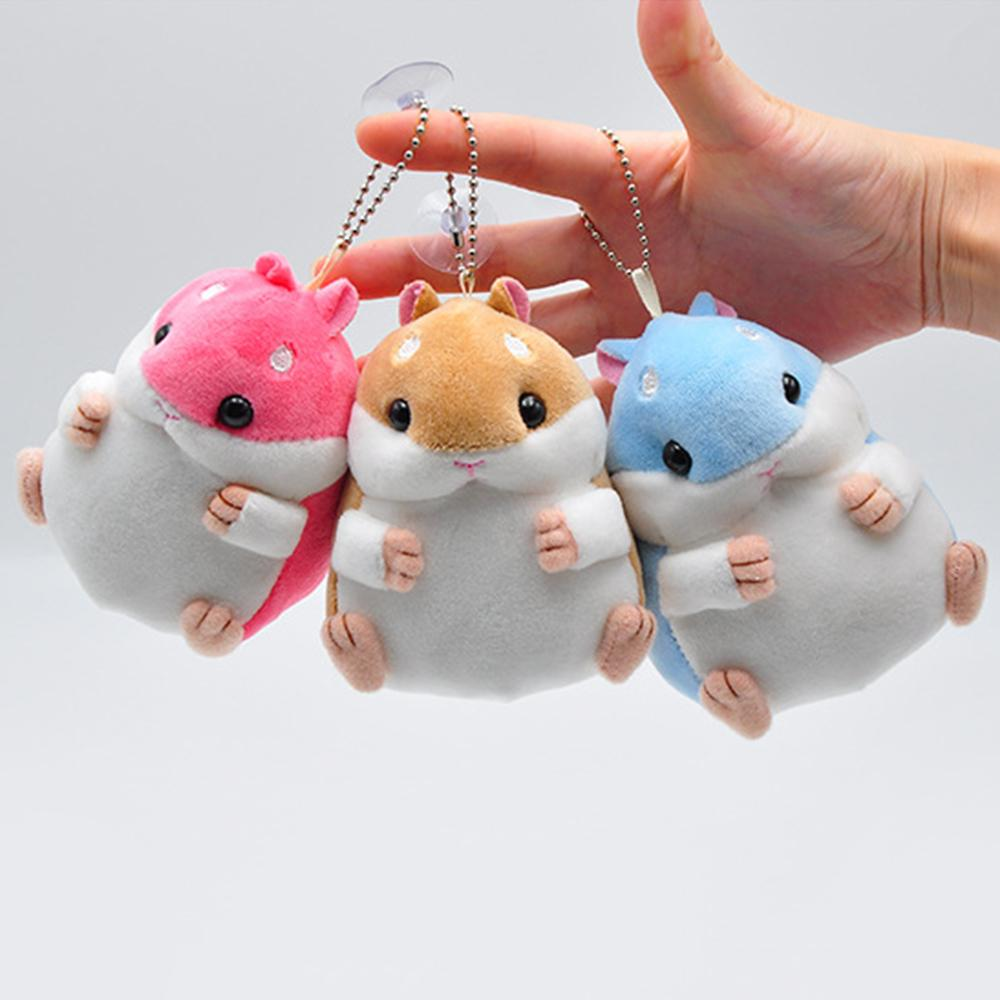 New Arrivals Baby Kids Soft Pom Plush Cartoon Animal Small Hamster Keychain Toy Doll Key Chain Stuffed Mouse Toy Dropshipping