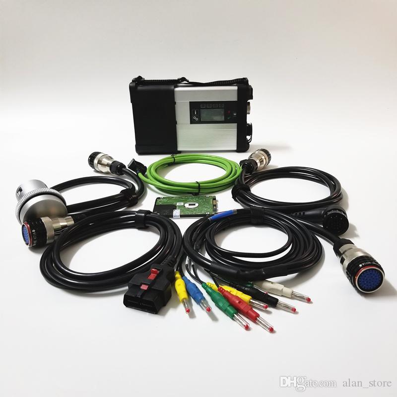 2020 Hot vender uma ferramenta +++ Qualidade MB ESTRELA C5 OBD2 Diagnostic MB SD conectar Compact 5 função melhor do MB ESTRELA wi-fi c4 Suporte