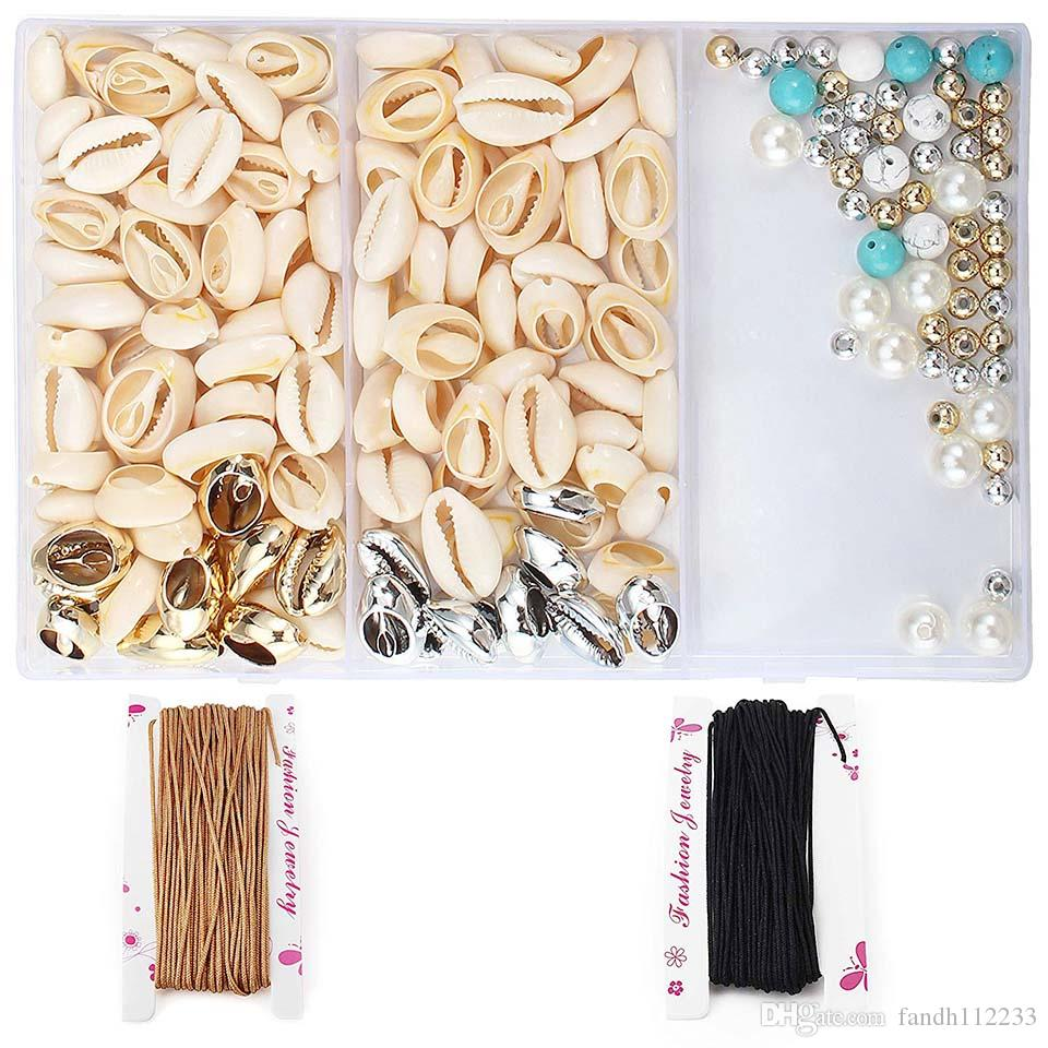LDPF Natural Loose Spiral Shell Beads Sea Shells Beach Seashells Cowrie Shells Charms and Beads for DIY Craft Jewelry Making