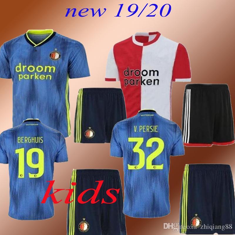2019 2020 Feyenoord VAN PERSIE 19 20 camisetas de fútbol VILHENA LARSSON camiseta de fútbol para niños JORGENSEN camisa de futebol maillots de football