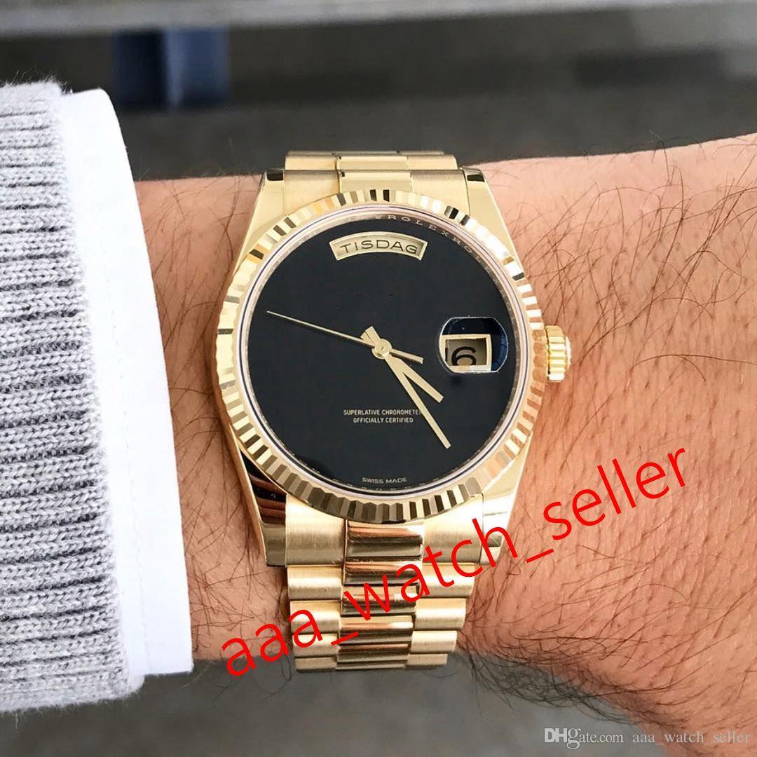 Мастер высокого качества роскошные мужские часы 40 мм Сни-дата 228239 228238 Все черный циферблат предпринятый бешель президент BEZEL Menchanical автоматические часы